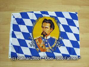 Fahne Flagge Bayern König Ludwig - 60 x 90 cm