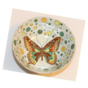 Butterfly Bowl Jena Hall Vintage Toyo Polka Dot Ceramic Retro Boho Hippie Décor