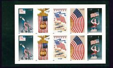 US Scott # 3776 - 3780a Old Glory Booklet Pane of 10