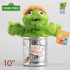 OFFICIAL Sesame Street Oscar Beanie Plush Toy Soft Stuffed Doll 10'' Teddy Gift