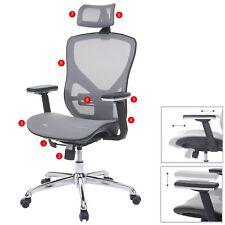 Chaise de bureau HWC-A61, cuir synthétique, tissu ISO9001 ~ gris/gris