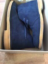 🔷 Clarks Originals - Men's Desert Boots - Navy Suede - Size UK 8/42 (G Fitting)