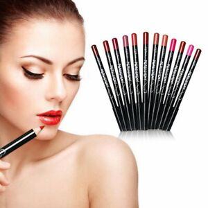 12 PCs/ Set Waterproof Lip Liner Pencil Professional Long Lasting Pen Makeup