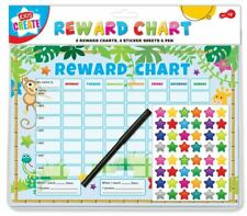 Reward Charts Childrens Jungle Themed Behaviour/Chore Charts + Stickers & Pens