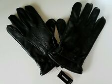 MENS EXPRESS FAUX LEATHER EXPRESS TECH GLOVES  LARGE/X-LARGE BLACK