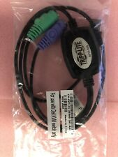 Lot of 3) NEW - Tripp-Lite B015-000 Amd Mini Micros USB to PS/2 Converter