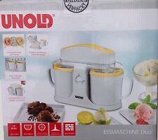 Unold Eismaschine Duo 48850, 2 Sorten Eiscreme gleichzeitig
