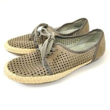Franco Sarto Size 6.5 A-Whimsy Shoes Leather Perforated Lace Up Espadrilles