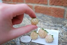 Organic 125 Seeds White Alpine Strawberry Fragaria Vesca Pineberry Fruit Rare
