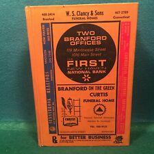Original and Vintage 1971 Branford And North Branford, CT HC Telephone Book.
