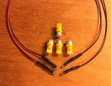 VINTAGE STEREO RECEIVER-TX-9500,TX-9500II 8V-AMBER WEDGE METER LAMPs FRONT PANEL