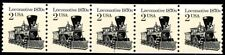 Locomotive Reprint Block Tagged Dull Gum MNH PNC5 PL 1 Scott 2226