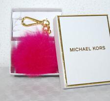 Michael Kors Schlüssel-Taschen-Anhänger Neu Fur Pom raspberry  pink Charm Pelz
