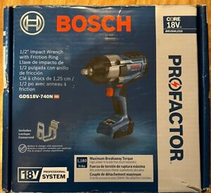 """Bosch PROFACTOR GDS18V-740N 18V Cordless 1/2"""" Impact Wrench with Friction Ring -"""