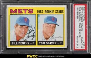 1967 Topps Tom Seaver ROOKIE RC #581 PSA 8 NM-MT