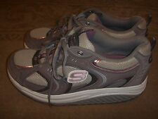 SKECHERS Shape-ups Gray/Pink SN11806 Womens Size 10