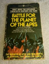 Battle For The Planet Of The Apes Paperback Book David Gerrold Award Books 1973