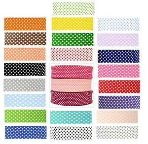 30mm POLKA DOT/SPOTTY BIAS BINDING POLY COTTON ~ CHOICE OF COLOURS AND LENGTHS