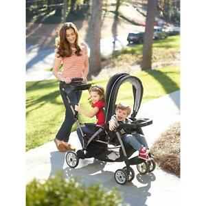 Graco Room For 2 Click Connect Stand And Ride Double Stroller Adjustable Kids