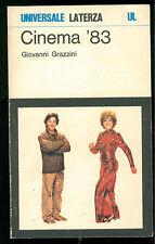 GRAZZINI GIOVANNI CINEMA '83 LATERZA 1984 UNIVERSALE 647