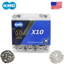 "KMC 8-11s MTB Road Bike 116/118 Links Double ""X"" Bridge Sprocket Bicycle Chains"