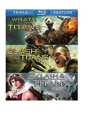CLASH OF THE TITANS (1981 & 2010) / WRATH OF THE TITANS BLU RAY SET 3 DISCS