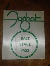 Foghat Vintage 1976 Tour Backstage Pass! Unpeeled!  Rare!