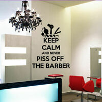 Wall Decal vinyl Hairdressing Hair Salon Beauty Barber Shop Keep Calm M1102
