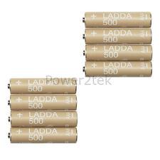 8 X Ikea Ladda AAA Recargable 1.2V HR03 NiMH 500 mAh Pilas Nuevas