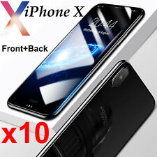 10pcs Anti-scratch 4H PET film screen protector Apple iPhone X Front and Back