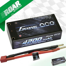 Gens Ace 2S 4200mAh SHORTY 7.4V 60C HardCase Lipo Battery Pack w/Deans Plug