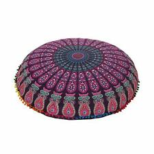 Large Ombre Mandala Floor Pillows, Round Cushion Cover, Decorative Throw Pillow
