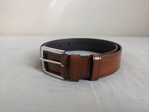 Authentic Church's EXCELLENT Brown Leather Belt Made in Italy - Size: 30..