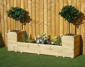 Extra Large Fort Tower - Treated Decking Garden Planter Bed Trough Patio Display