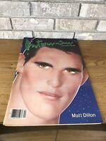 Interview Magazine Dec 1983 - Matt Dillon, Andy Warhol - Vintage Designer Ads OG