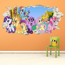 My Little Pony Smashed Wall Crack Kids Boy Girls Decal Art Sticker Gift New  V2 Part 67