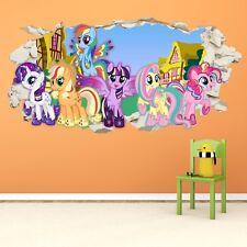 My Little Pony Smashed Wall Crack Kids Boy Girls Decal Art Sticker Gift New v2