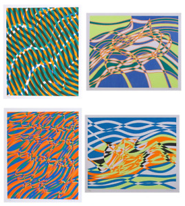 Stanley William Hayter, The Aquarius Suite, Four Screenprints, Each signed and n