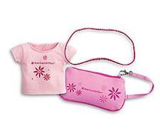 American Girl Place Wristlet & Doll Tee Pink Girls Purse Headband MyAG Luciana