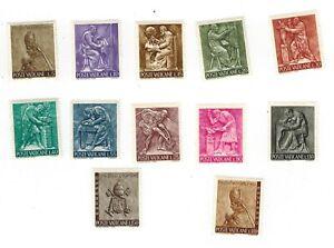 VINTAGE CLASSICS - Vatican City 423-32+E17+18 - Pope Paul VI - Set of 12 - MNH