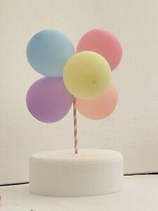 Balloon Cake Topper Decoration  DIY Kit. Rainbow Cake, Balloon Mini Garland
