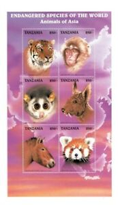 Tanzania 1997 - Endangered Species Of The World - Sheet of 6 Stamps - MNH