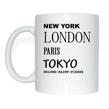 New York, London, Paris, Tokyo, WOLUWE-SAINT-PIERRE Tasse Kaffeetasse