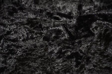 "Velvet Panne  Crushed Backdrop Velour Stretch Fabric 60"" Wide BLACK free ship"