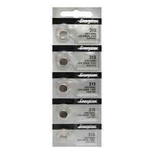 5 x Energizer 315 Watch Batteries, 0% Mercury equivilate Sr716Sw