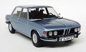 KK 1/18 Scale - BMW 3.0S E3 'New Six' Metallic Light Blue 1971 Diecast Model Car