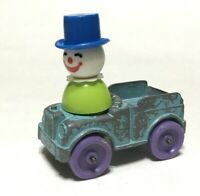 Vintage 1967 Tootsietoy Blue Metal Truck with 1970s Little People Clown