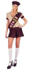 Sexy Girl Guide Brownie Troop Tease Dress & Hat Ideal For Hen & Halloween
