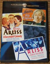GEORGE ARLISS SIGNATURE COLLECTION 3 FILMS ALL R0 MOD DVD-R SENT FROM UK