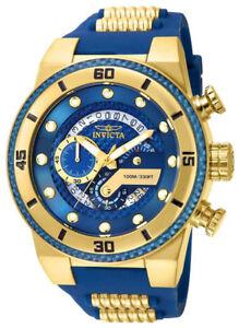 Invicta 24224 S1 Rally Blue Dial Silicone Strap Chronograph Men's Watch
